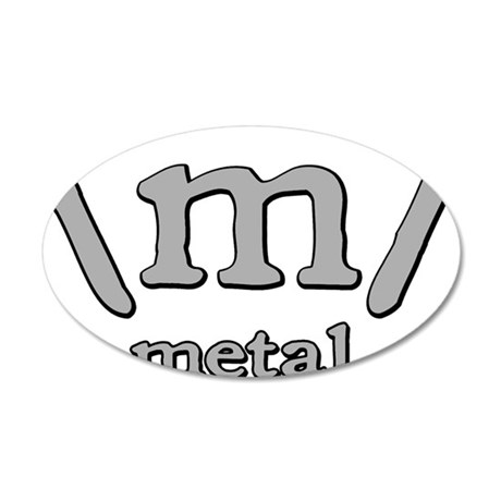 M FOR METAL 20x12 Oval Wall Decal