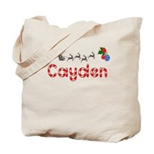 Cayden, Christmas Tote Bag