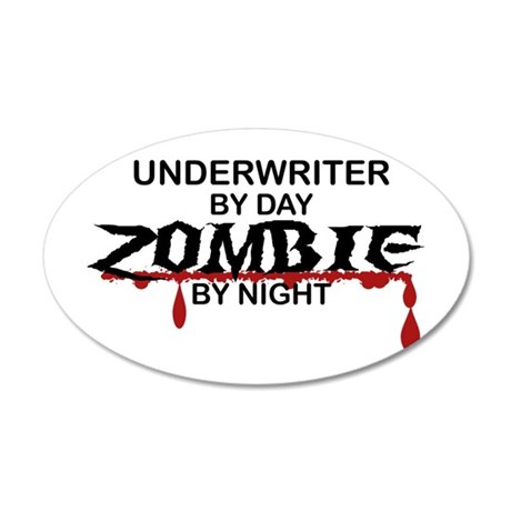 Underwriter Zombie 20x12 Oval Wall Decal