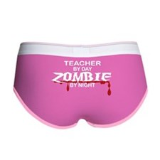 Teacher Zombie Women's Boy Brief