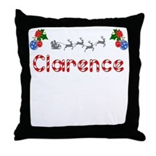 Clarence, Christmas Throw Pillow