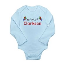 Clarkson, Christmas Long Sleeve Infant Bodysuit