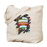 Scribble Crest Tote Bag