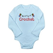 Crochet, Christmas Long Sleeve Infant Bodysuit