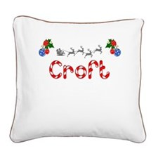 Croft, Christmas Square Canvas Pillow