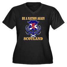 Be A Nation Women's Plus Size V-Neck Dark T-Shirt