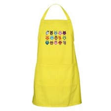 Colorful cute owls Apron