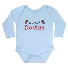 Davian, Christmas Long Sleeve Infant Bodysuit