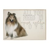 Rough Collie 5'x7'Area Rug