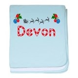 Devon, Christmas baby blanket