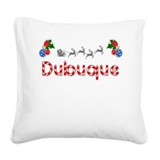 Dubuque, Christmas Square Canvas Pillow