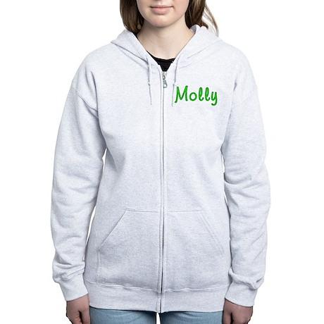 Molly Glitter Gel Women's Zip Hoodie