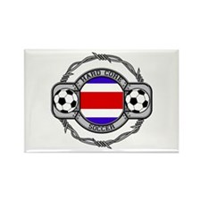Costa Rica Soccer Rectangle Magnet (10 pack)