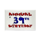 Annual 39th Birthday Rectangle Magnet (10 pack)