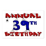 Annual 39th Birthday Postcards (Package of 8)