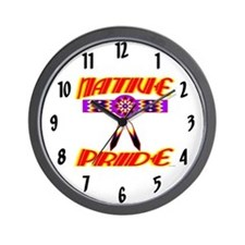NATIVE PRIDE Wall Clock