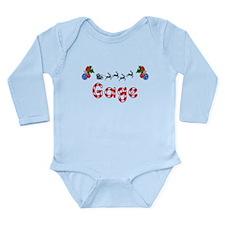 Gage, Christmas Long Sleeve Infant Bodysuit