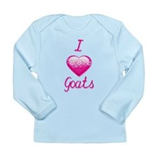 I Love/Heart Goats Long Sleeve Infant T-Shirt