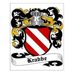 Krabbe Coat of Arms Small Poster