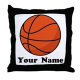Personalized Basketball Throw Pillow