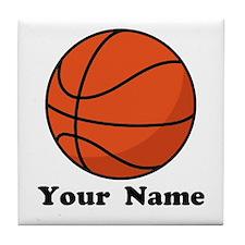 Personalized Basketball Tile Coaster