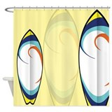 Surfboard Patterns Shower Curtain