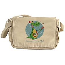 Rockin Christmas Dino Messenger Bag
