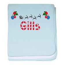 Gills, Christmas baby blanket