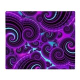 Funky Purple Swirl Fractal Art Pattern Stadium Bl
