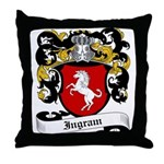 Ingram Coat of Arms Throw Pillow