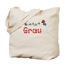Grau, Christmas Tote Bag