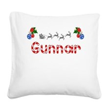 Gunnar, Christmas Square Canvas Pillow