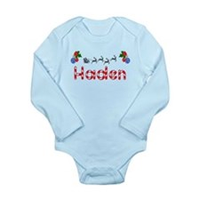 Haden, Christmas Long Sleeve Infant Bodysuit