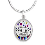 Vet Tech Tote 1.PNG Silver Oval Necklace
