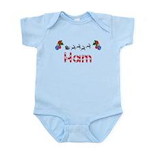 Ham, Christmas Infant Bodysuit