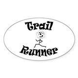 Trail Runner Stick Person Decal