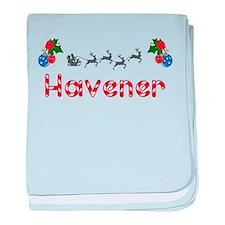 Havener, Christmas baby blanket