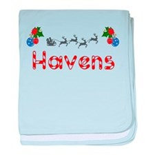 Havens, Christmas baby blanket
