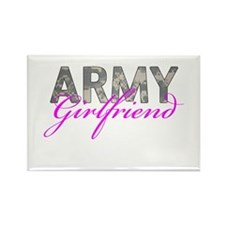 ACU Army Girlfriend Rectangle Magnet