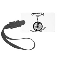 Unicycle Mobile Device Luggage Tag