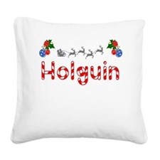 Holguin, Christmas Square Canvas Pillow