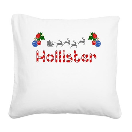 Hollister, Christmas Square Canvas Pillow