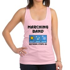 Marching Band Weather Racerback Tank Top