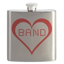 Band Hearts Flask