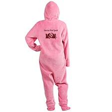 american water spaniel mom darks.png Footed Pajamas