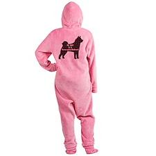 BFF Norwegian Buhund Footed Pajamas