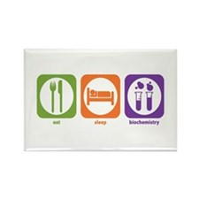 Eat Sleep Biochemistry Rectangle Magnet