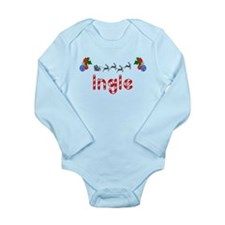 Ingle, Christmas Long Sleeve Infant Bodysuit