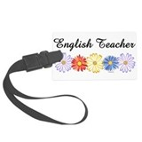 English Teacher Flowers Luggage Tag