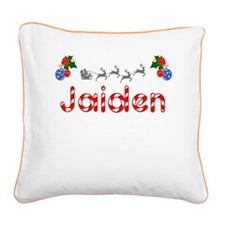 Jaiden, Christmas Square Canvas Pillow